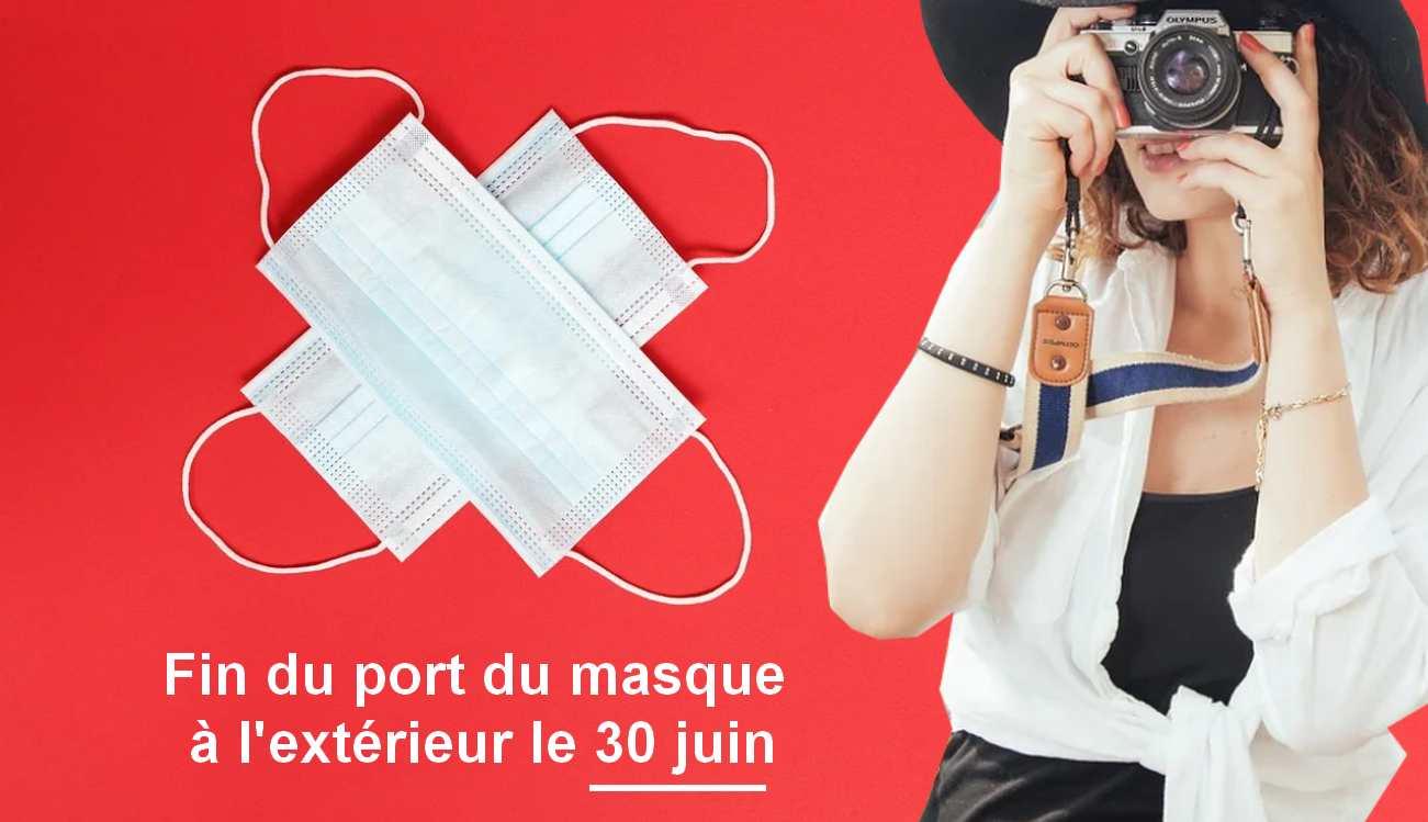 Masque non obligatoire en extérieur le 30 juin