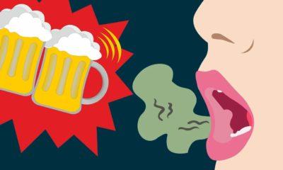 La mauvaise haleine avec l'alcool