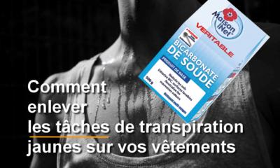 Bicarbonate de soude pour les tâches de transpiration
